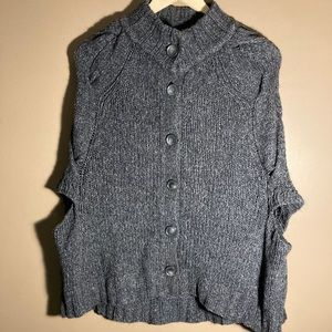 Theory wool mohair blend cape sweater